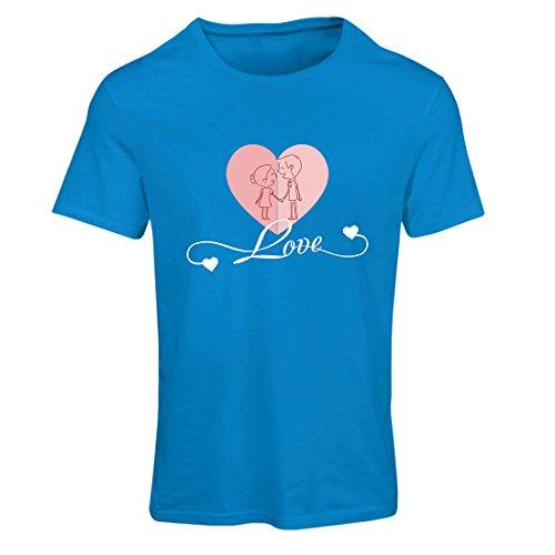 Maglietta Donna Ti amo ! Regali d'amore per il tuo Valentino segreto Azzulo Multicolore