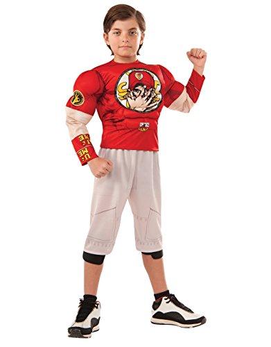 John Cena Kostüm, Kinder WWE Outfit, groß, Alter 8–10Jahre, Höhe 4'20,3cm–5' 0cm