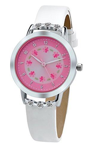 dovoda-watches-girls-quartz-white-leather-strap-analog-display-fashion-flower-kids-watches