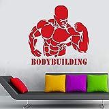 Njuxcnhg Gym Aufkleber Fitness Aufkleber Bodybuilding Poster Vinyl Wandtattoos Aufkleber Wandtafel...