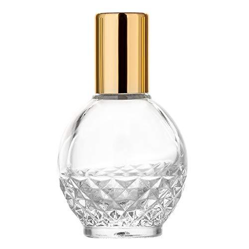 MA87 Ätherische Öle Roller Ball Glas Parfüm Flaschen Reisenden nachfüllbarer Behälter (M) - Liner Vorhang Klar Dusche