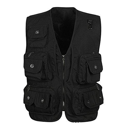 DDDFVVDS MJJ/Multi Pocket Weste Vest. Freizeithocker Fischerhocker Vest. Xinhua Regisseur Westen Outdoor, 3-XXL