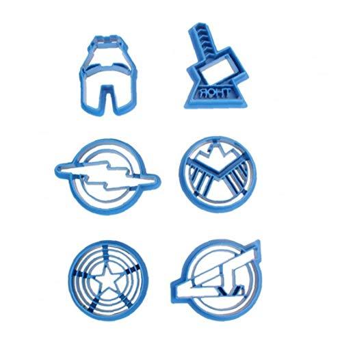 Superhéroe Capitán América De Dibujos Animados Cortador De La Galleta De Pasta De Azúcar De Pastelería Galletas Impresión del Sello Iron Man Avengers Thor Escudo Flash Panadería De Azúcar