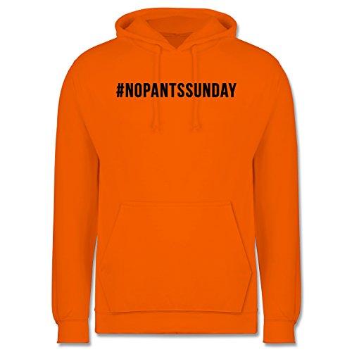 Statement Shirts - #nopantssunday - Männer Premium Kapuzenpullover / Hoodie Orange