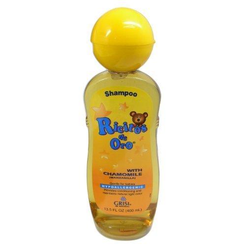 Grisi Ricitos de Oro Hypoallergenic Chamomile(Manzanilla) Shampoo 13.5oz (400 mL) by Ricitos De Oro (Grisi Shampoo Manzanilla)
