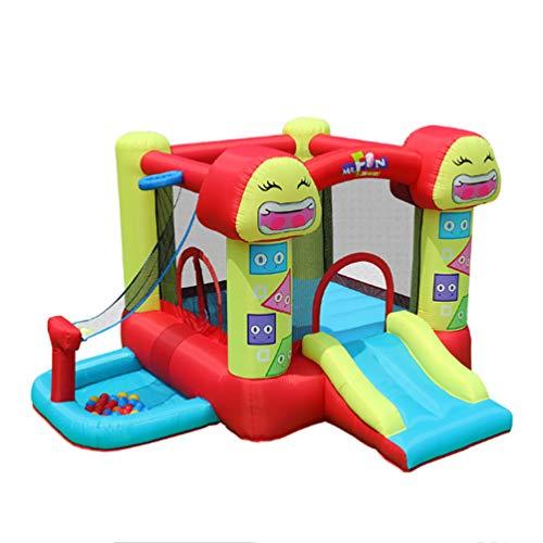 XGYUII Zaun Hüpfburg Spielplatz Spielzeug Indoor Kleine Kinder Slide Familie Wasserrutsche Klettern Rutsche Springen Trampoline