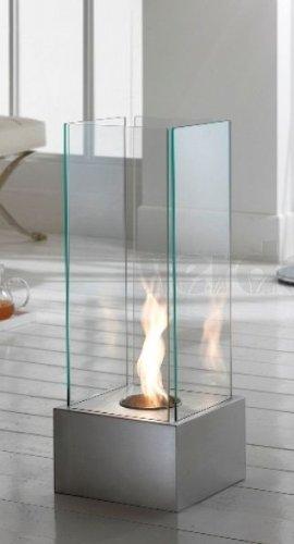 Preisvergleich Produktbild Stones Bioethanol-Kamin, mobil, Grau