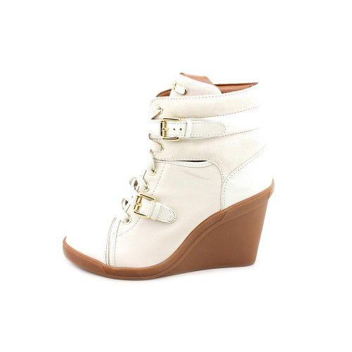 Michael Michael Kors Skid Wedge Cuir Baskets Vanilla