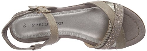 Marco Tozzi Cool Club  48200, Sandales pour fille Multicolore - Mehrfarbig (Taupe A. Comb / 323)