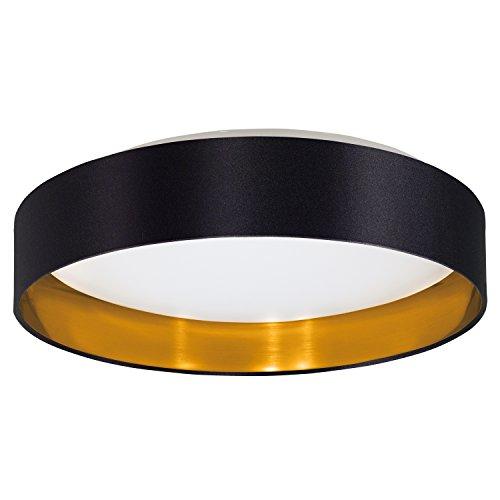 EGLO 31622 LED-Deckenleuchte Maserlo Durchmesser 40,50 cm Plastik, schwarz/ weiß