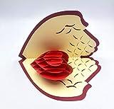 Keep Sake 3D Popup Karte mit Herz in Palme