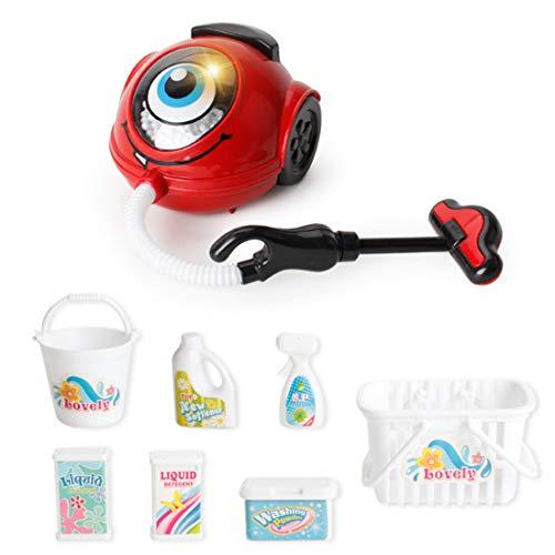 Forweilai Elettrodomestici Giocattolo Kit Cucina Giocattolo Set Adorabile Regalo per Bambini - (Aspirapolvere)