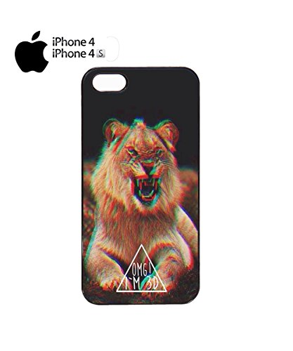 OMG I Am 3D Lion Triangle Mobile Phone Case Back Cover Coque Housse Etui Noir Blanc pour for iPhone 6 Plus Black Noir