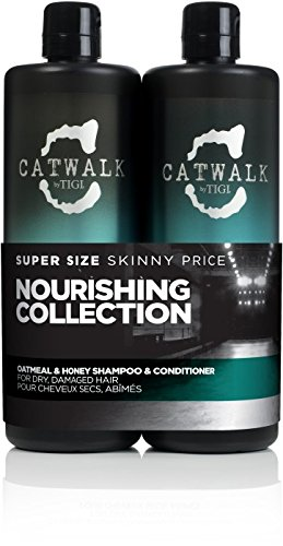 Tigi Catwalk Oatmeal & Honey Nourishing Duo Pack (Shampoo 750ml und Conditioner 750ml) (Honig-haar-conditioner)