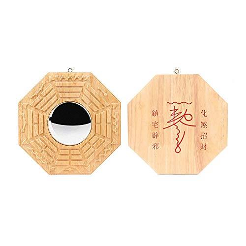 Feng Shui Bagua-Spiegel mit traditionellem chinesischem Spiegel Konkaver/konvexer Bagua-Spiegel zum Schutz vor schädlicher und passiver negativer Energie