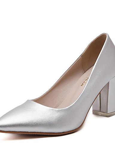 GS~LY Da donna-Tacchi-Casual-Tacchi / A punta-Quadrato-PU (Poliuretano)-Nero / Argento silver-us7.5 / eu38 / uk5.5 / cn38