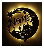 Schlummerlicht24 Led Lampe personalisiert Babygeschenk Sweet Dream Taufgeschenke Geschenke zur Geburt Kommunion Taufe Geschenk mit Namen individuell Junge Mädchen Jungs