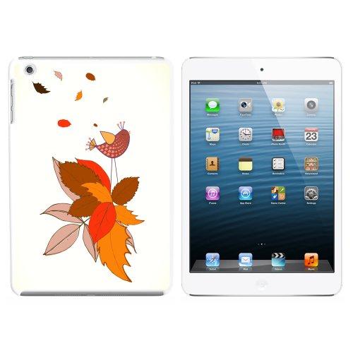 Fall wechselnden Blätter und singende Vogel Snap On Hard Schutzhülle für Apple iPad Mini 1. Generation–Weiß