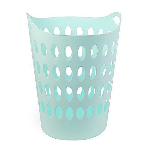 DRULINE Wäschekorb Kunststoff Wäschetruhe Wäschebox 50L Wäschesammler Rund Mint
