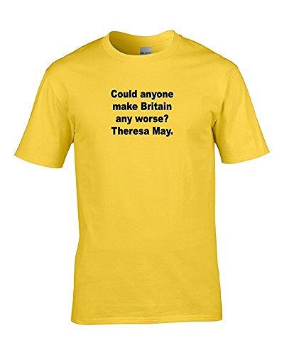 FatCuckoo Herren T-Shirt Gelb