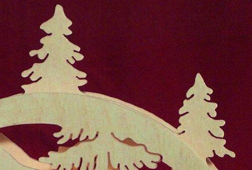 Mini LED Lumberjack ight-Arch - 23x15x4, 5 cm / 9x6x2 pulgadas - Michael Müller