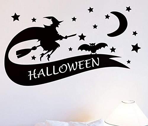 Halloween Hexe Hintergrund Wandaufkleber Fenster Dekoration Aufkleber Dekor Halloween Dekorationen Für Wohnzimmer Home