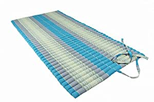 Thai Design Mat (rollable) with Kapok filling, Skyblues