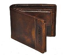 DHIDE Designs Brown Mens Wallet