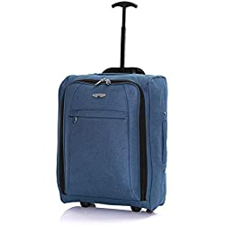 Twill equipaje de mano 50 x 35 x 20 cm, Azul