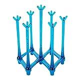 BESTONZON Plastikbecherhalter faltbare herausziehbare Ablaufglasflasche Becherhalter Becherregal für 7 Tassen (blau)