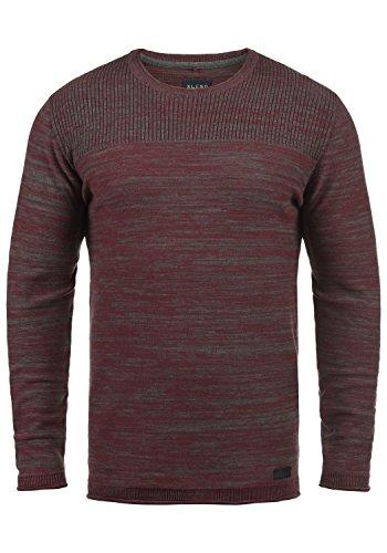 Blend Lino Herren Strickpullover Feinstrick Pullover mit Rundhalsausschnitt aus 100% Baumwolle, Größe:S, Farbe:Wine Red (73812) - Asos Roll