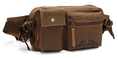 ZYT Große Taschen Tasche Trend Persönlichkeit Mann Tasche Canvas Geldbörse Berg Geldbörsen coffee