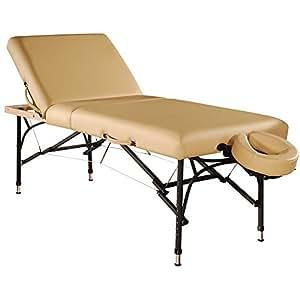 Master Massage 66cm Violet Beige Salon Tilt Aluminium Leicht 3 Abschnitt Mobil tragbar Massageliege Massagebett Massagebank Kosmetikliege America Brand