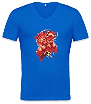 Gouki Red Unisex V-neck T-shirt