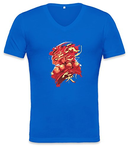 Gouki Red Unisex V-neck T-shirt, Vêtements
