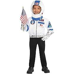 Astronauta Kit Niños Disfraces Espacio Nasa Uniforme Niños Niñas Traje de Niño 4 a 6 años