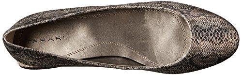 Tahari Ranma Cuir Chaussure Plate Silver-Black