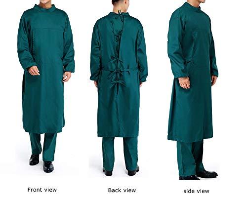 Nanxson Unisex Herren Frauen Operationskittel Lab Medizin Uniform Arbeitskleidung ME0002 (Grün, S) - 3