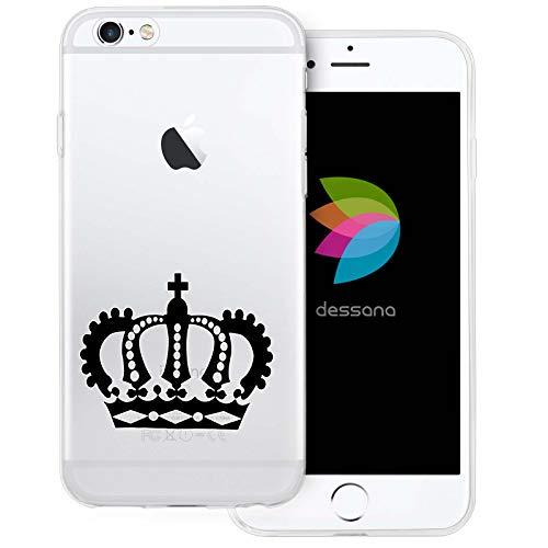 dessana Krone Transparente Schutzhülle Handy Case Cover Tasche für Apple iPhone 6/6S Krone König