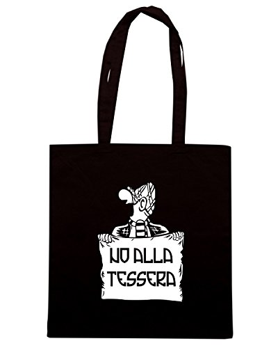 T-Shirtshock - Borsa Shopping T0068 NO ALLA TESSERA calcio ultras Nero