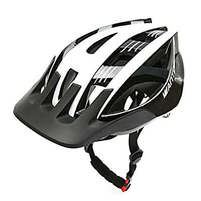 Wantdo Mens Cycle Helmet Road Mountain Bike Helmet Safety Adjustable with Detachable Liner and Adjustable Strap
