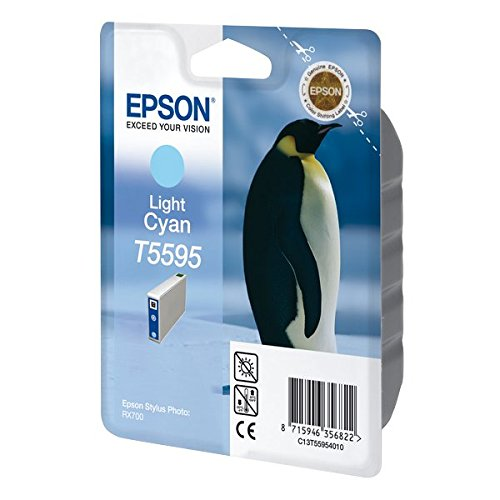 Epson T5595 Cartouche d'encre d'origine Cyan clair pour RX700