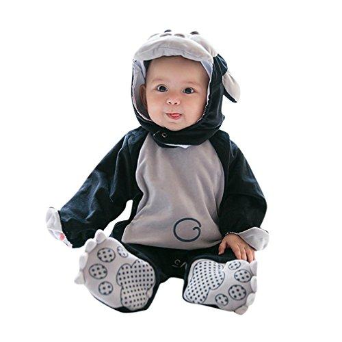 Janly Baby Halloween Tier Kostüm Hooded Bodysuit Footies Spielanzug Onesie Outfit (Größe: 100CM, Gorilla)
