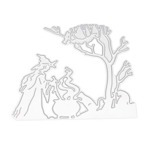 Eliky Halloween Witch Metal Cutting Dies Stencil For DIY Scrapbooking Paper Card Embossing Craft Decor