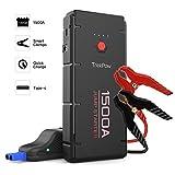 TrekPow Jump Starter 1500A Avviatore Batteria Booster Auto (per Motori 12V Diesel 6.5L e Benzina 8.0L), Caricabetteria con USB QC 3.0 & Type C per Tablet Power Starter Portatile per Auto Moto Barca