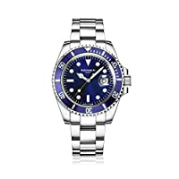 Blenheim London® Reloj Navigator Luminous de hombre, Cristal de Zafiro, Resistente al Agua, Esfera Azul.