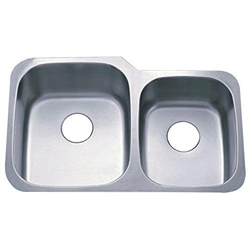 Kingston Messing GKUD3221P Gourmetier GKUD3221P Unterbau Double Bowl Kitchen Sink, geb-rstetes Nickel -