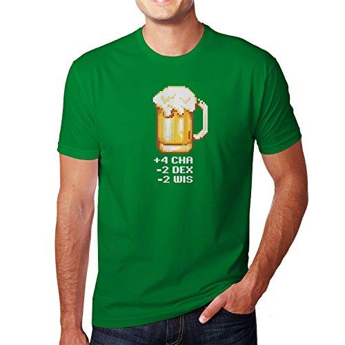 Planet Nerd - RPG Beer - Herren T-Shirt Grün