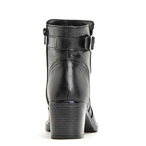 MARINA SEVAL by Scarpe&Scarpe - Stiefeletten mit seitlicher Schnalle, Leder, mit Absätzen 6 cm Schwarz