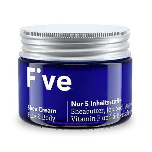 Five Shea Cream | Reichhaltige Creme für trockene Haut mit Sheabutter | Nur 5 Inhaltsstoffe – vegan